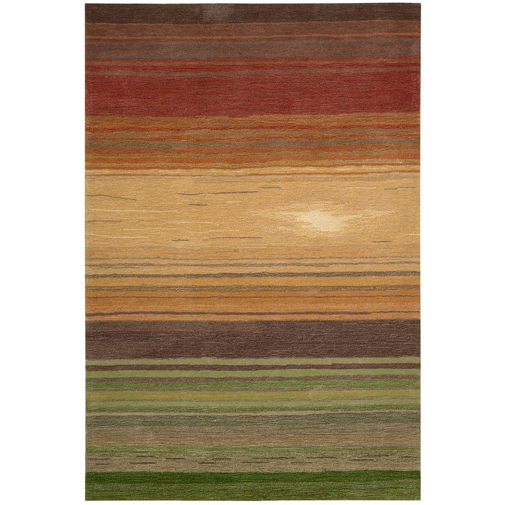 Nourison Tequila Sunrise Harvest 7 ft. 3 in. x 9 ft. 3 in. Area Rug