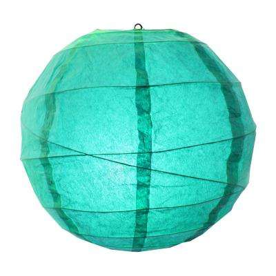CrissCross 12 in. x 12 in. Turquoise Round Paper Lantern (5-Pack)