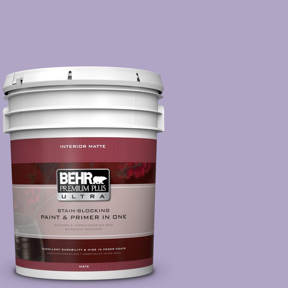 5 gal. #650D-4 Winter Amethyst Flat/Matte Interior Paint