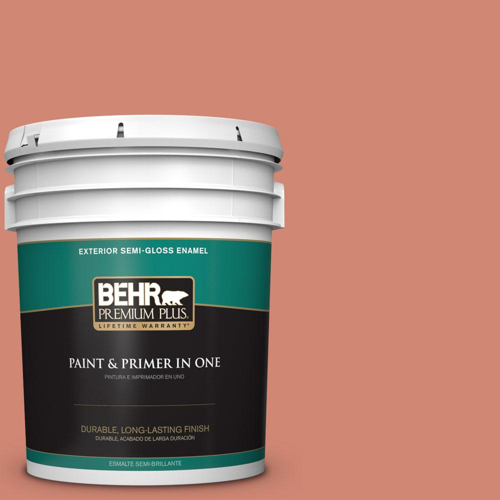 5 gal. #HDC-WR16-02 Rosy Copper Semi-Gloss Enamel Exterior Paint