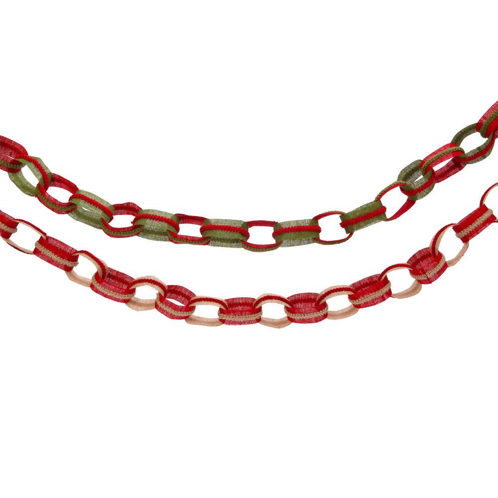 S/2 5 ft. L Burlap Chain Garlands