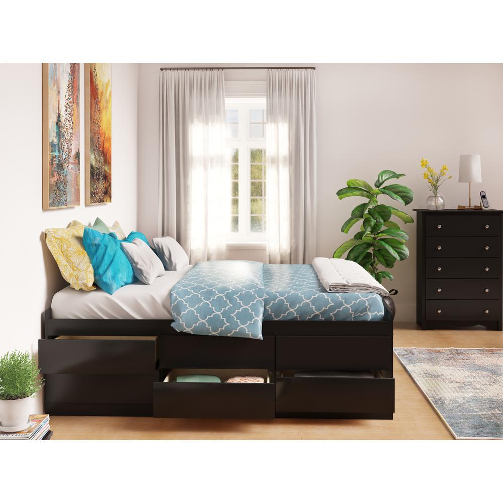 Queen Wood Storage Bed