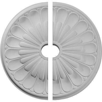 26-3/4 in. O.D. x 3-5/8 in. I.D. x 1-3/8 in. P Elsinore Ceiling Medallion (2-Piece)