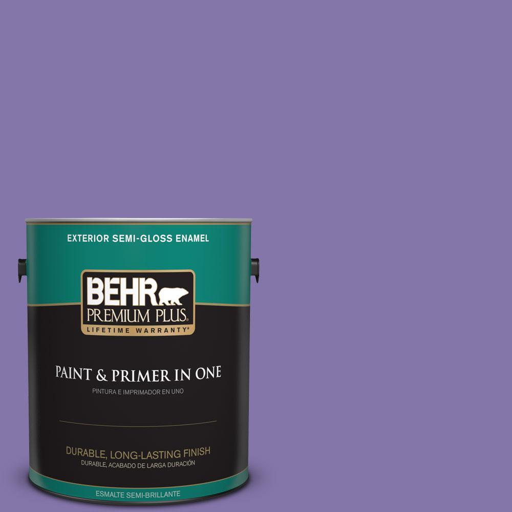 BEHR Premium Plus 1-gal. #640B-6 Grape Parfait Semi-Gloss Enamel Exterior Paint