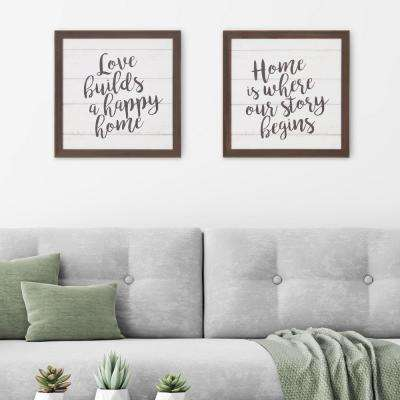 Home is Where Our Story Begins Wooden Plank Decorative Sign