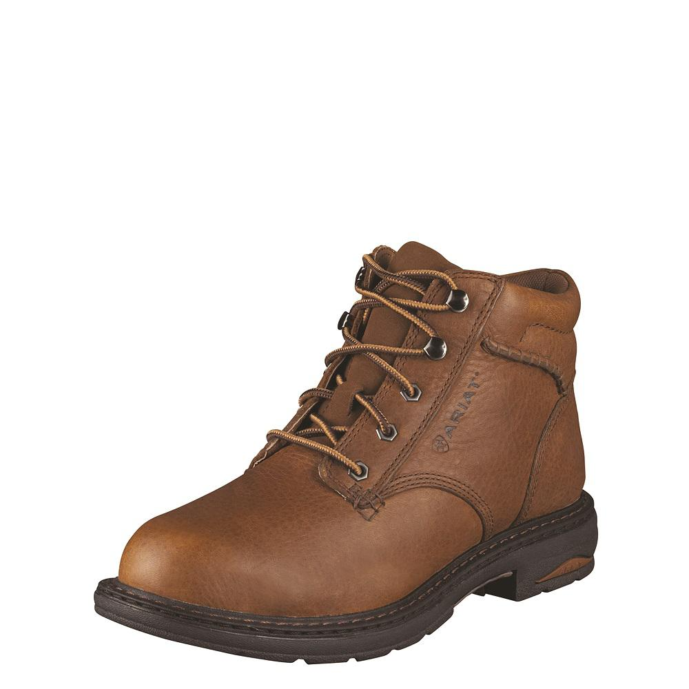 Facility Maintenance & Safety Personal Protective Equipment (ppe) Dedicated Leather Safety Work Boots Lightweight Comfort Steel Toe Womens Caterpillar Tan