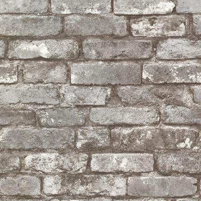 56.4  sq. ft. Debs Dove Exposed Brick Wallpaper