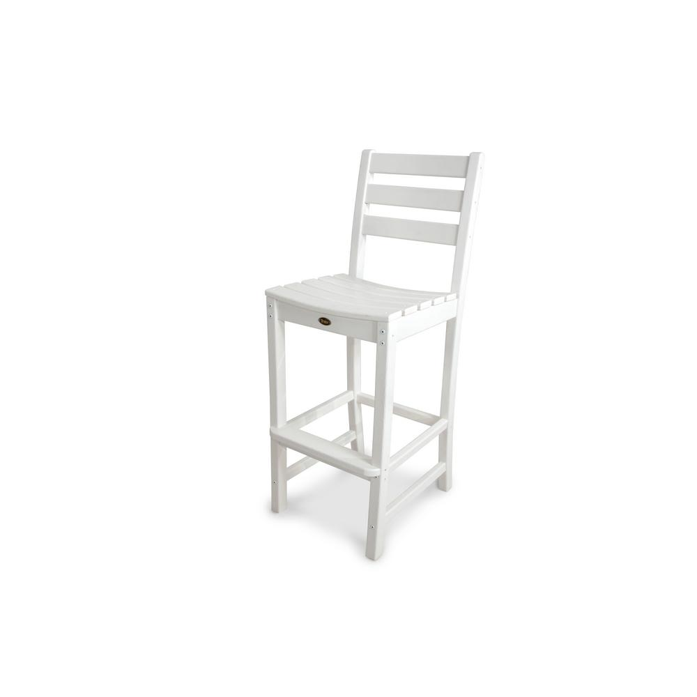 Trex outdoor furniture monterey bay classic white patio bar side chair txd102cw the home depot Cw home depot furnitures