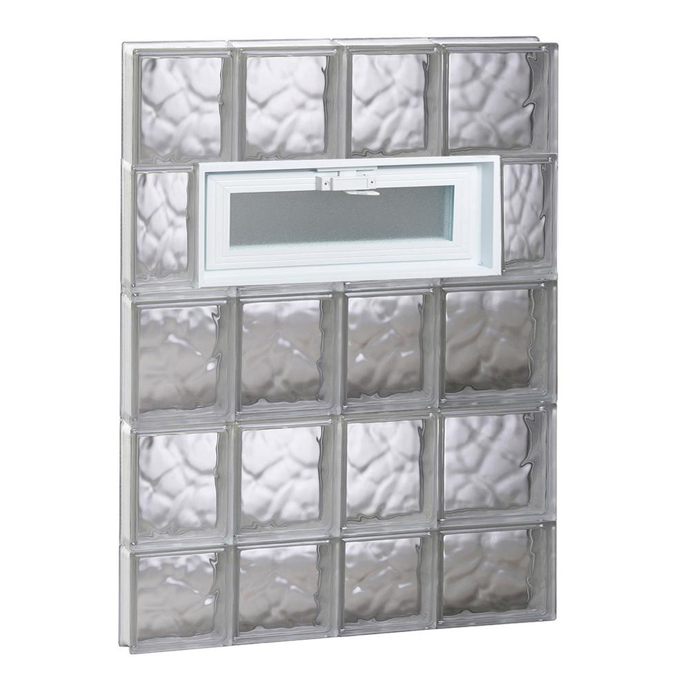 Clearly Secure 25 in. x 36.75 in. x 3.125 in. Frameless Wave Pattern ...