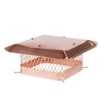 13 in. x 13 in. Bolt-On Single Flue Chimney Cap in Copper