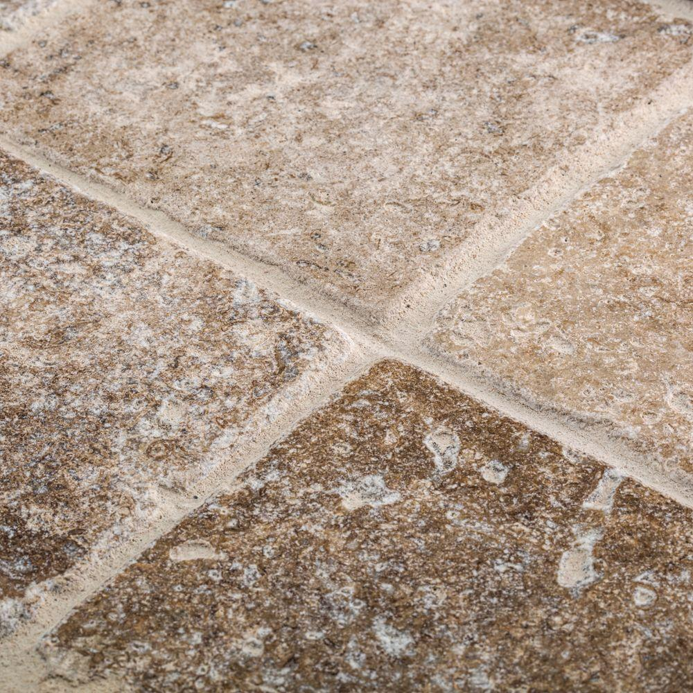 Travertine Marble Tile : Jeffrey court travertino noce in tumbled