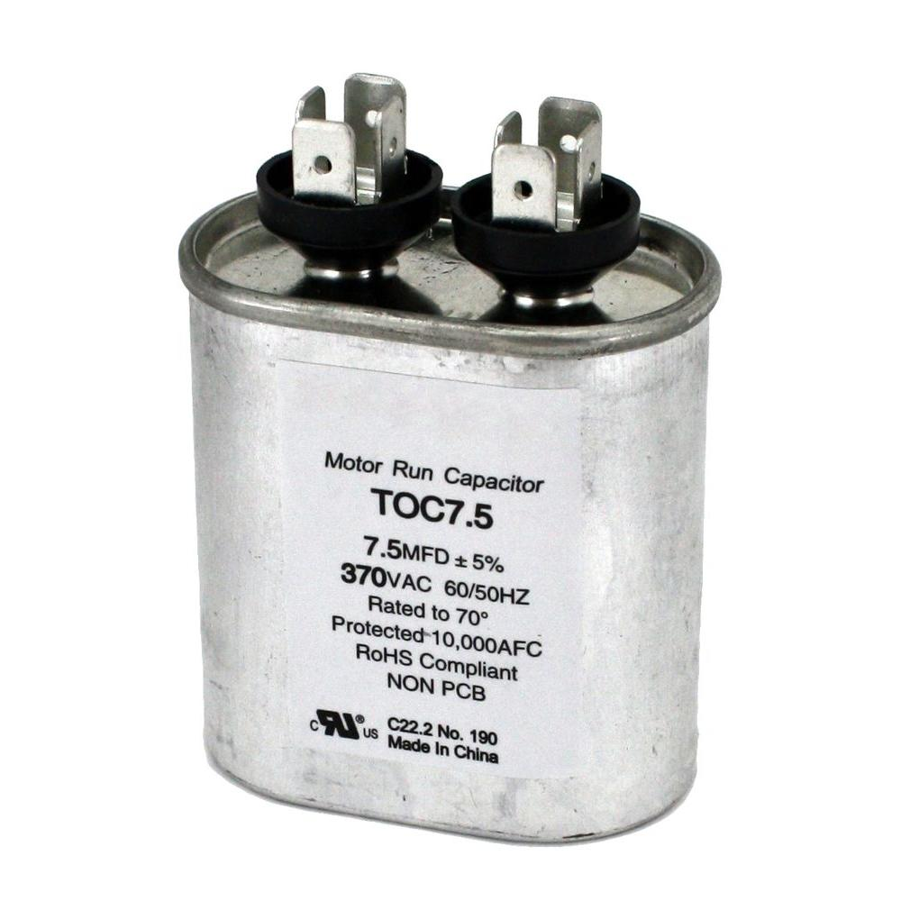 Packard 370-Volt 7.5 MFD Motor Run Oval Capacitor