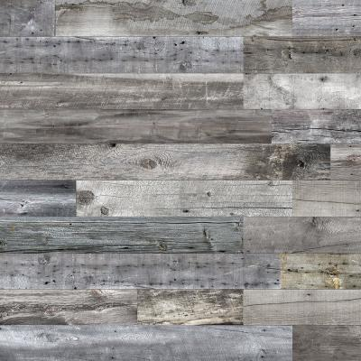 Barnwood Collection 3/8 in. X 6 in. x 64 in. Mountain Music Engineered Wood Interior Accent Wall Panel (8-Box)