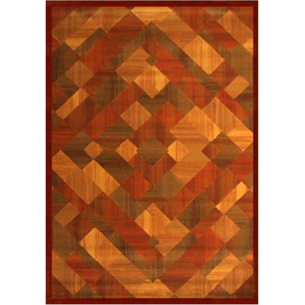Essentials Madison Rust 5 ft. x 8 ft. Area Rug