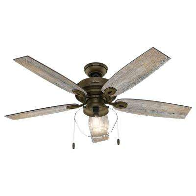 Crown Canyon 52 in. LED Indoor/Outdoor Noble Bronze Ceiling Fan