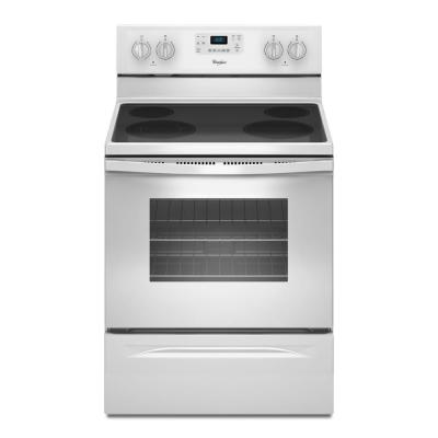 Whirlpool 53 Cu Ft Electric Range With Self Cleaning Oven In