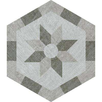 Rhone Lyon Hexagon Decorative 9.6 in. x 11 in. Matte Glazed Porcelain Floor and Wall Tile (9.25 sq. ft. / case)