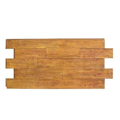 Raised Grain Faux Transitional Panel 1-1/4 in. x 48 in. x 23 in. Honey Pine Polyurethane Interlocking Panel