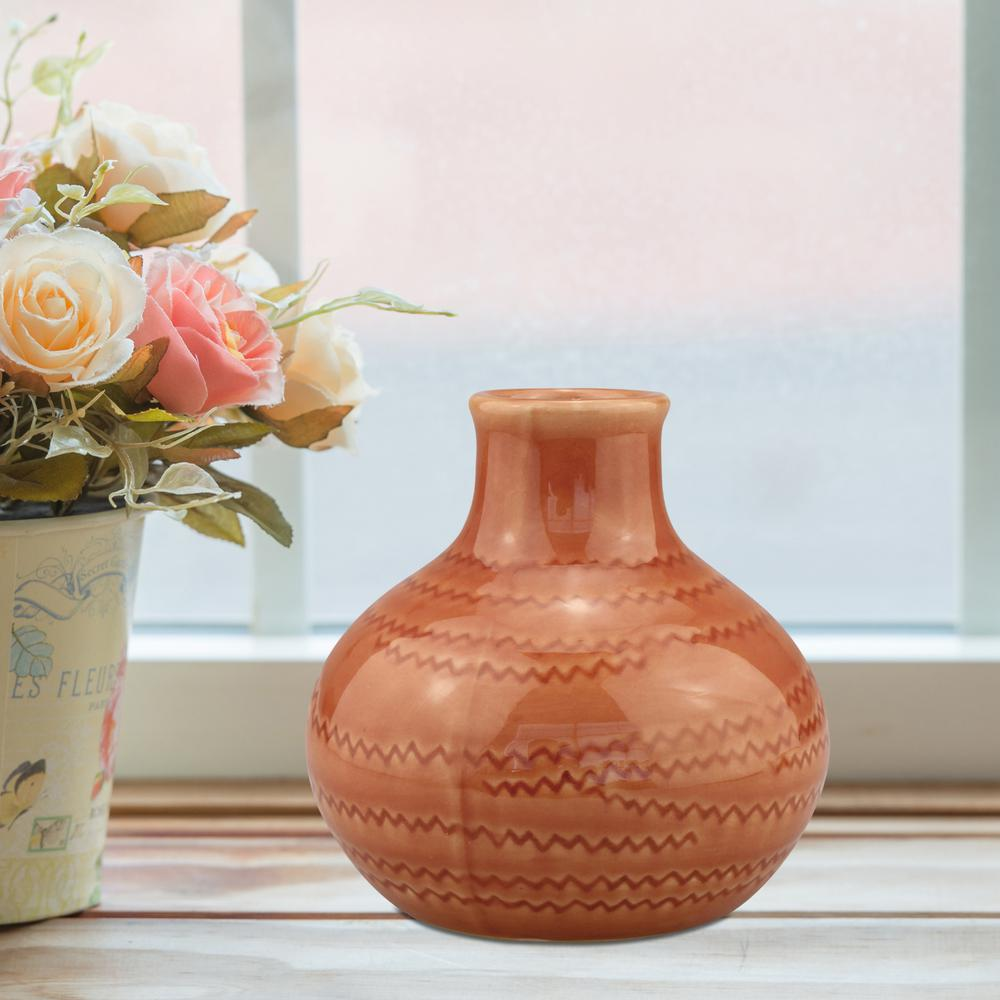 Stonebriar Collection 5 In. Ceramic Terra Cotta Small Vase