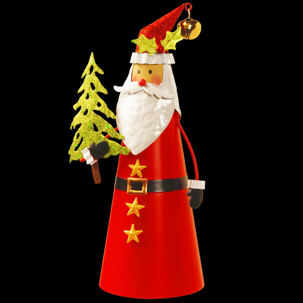 12 in. Metal Santa Character