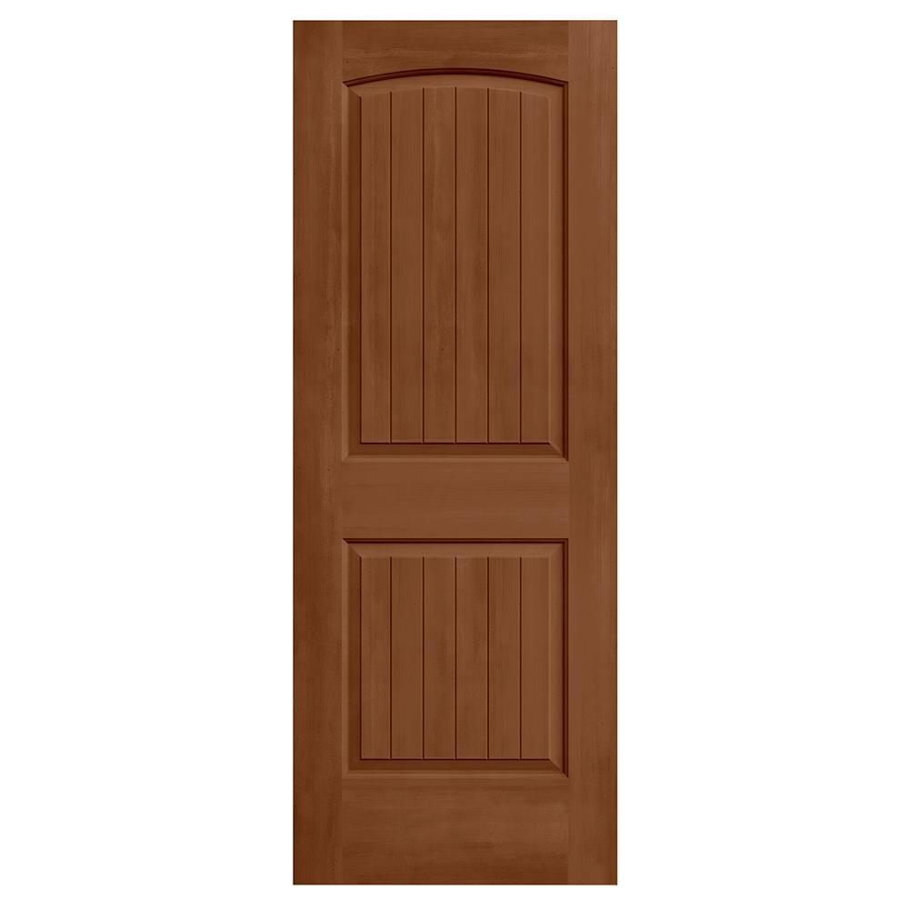 24 in. x 80 in. Santa Fe Hazelnut Stain Molded Composite MDF Interior Door Slab
