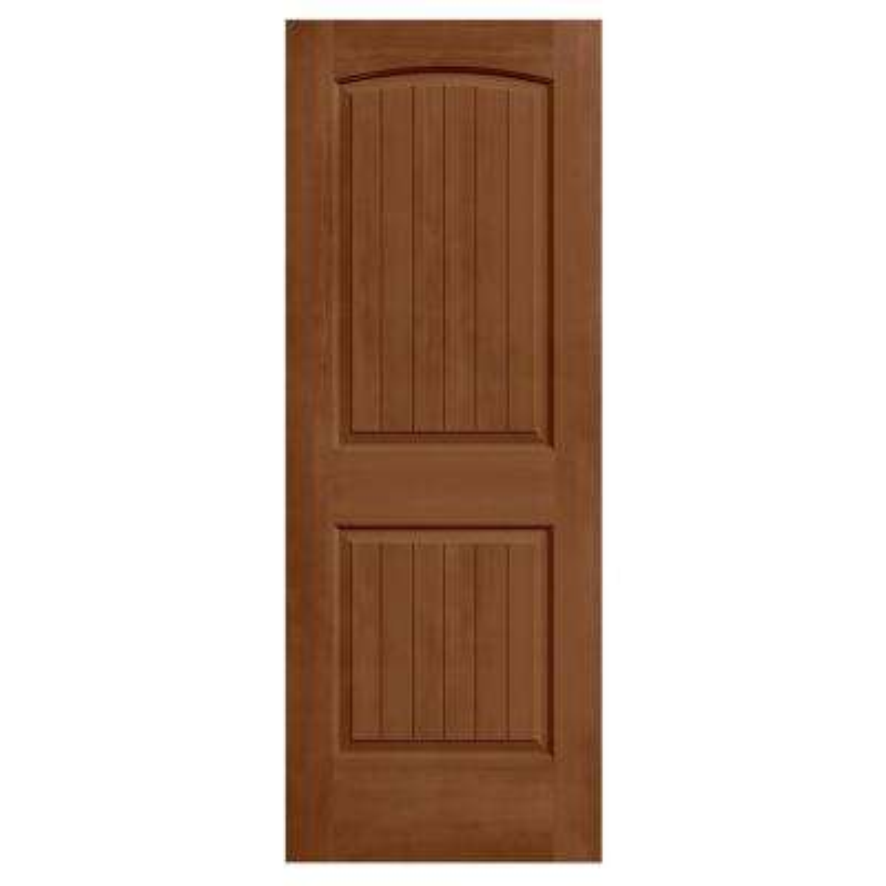 32 in. x 80 in. Santa Fe Hazelnut Stain Solid Core Molded Composite MDF Interior Door Slab
