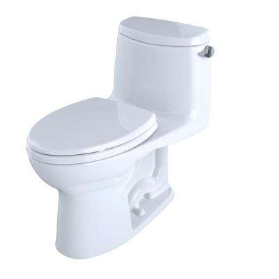 UltraMax II 1-Piece 1.28 GPF Single Flush Elongated Toilet with CeFiONtect and Right Hand Trip Lever in Cotton White