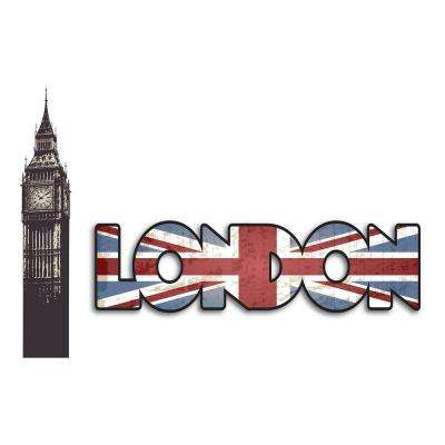 18.5 in. x 26.4 in. London Wall Decal