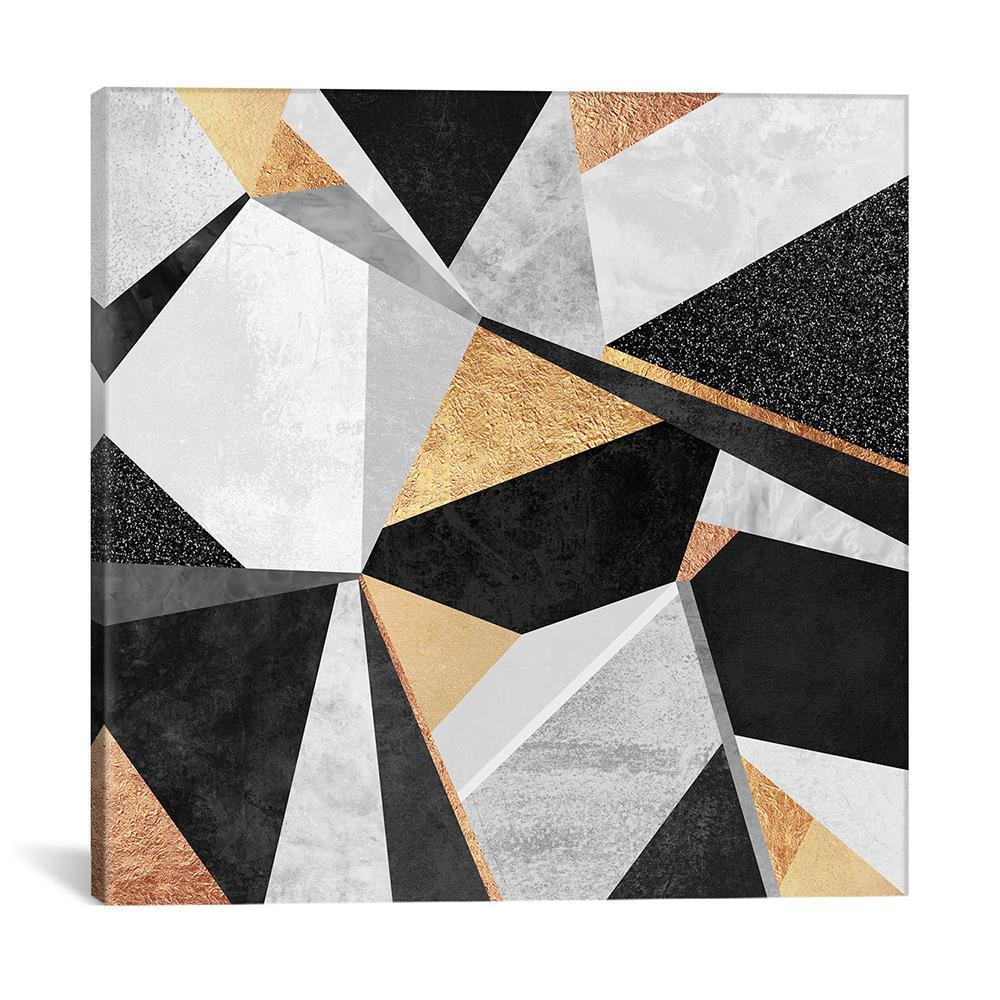 """Geometry Gold"" by Elisabeth Fredriksson Canvas Wall Art"