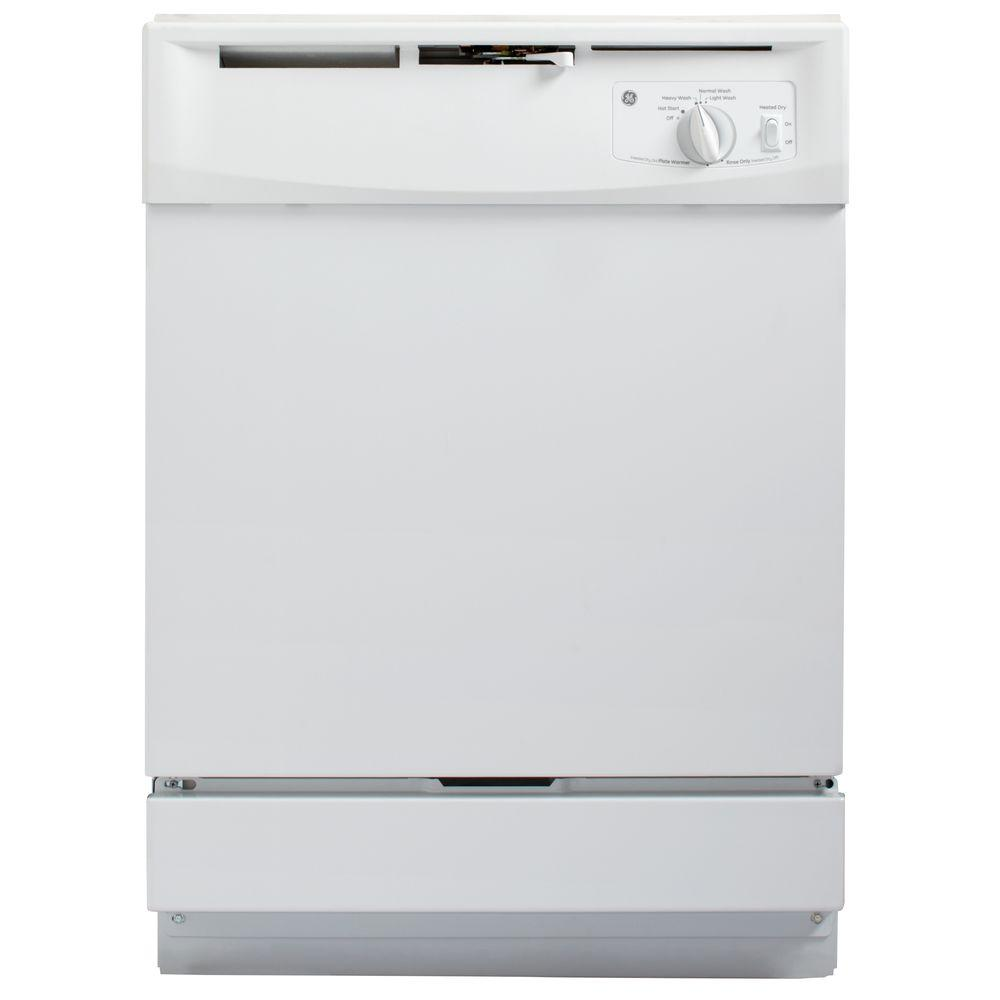 Ge Front Control Dishwasher In White Gsd2100vww The Home