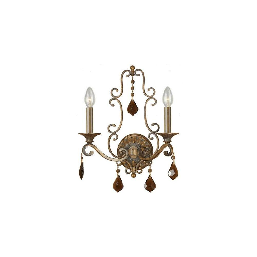 Talista 2-Light Rustic Sienna Sconce with Optional Fabric Shades