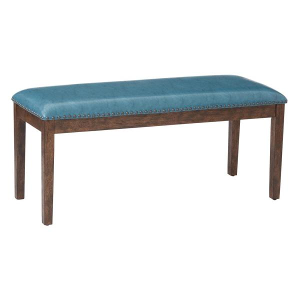 OSP Home Furnishings Blue/Teal Langston Bench LNG1616-BL