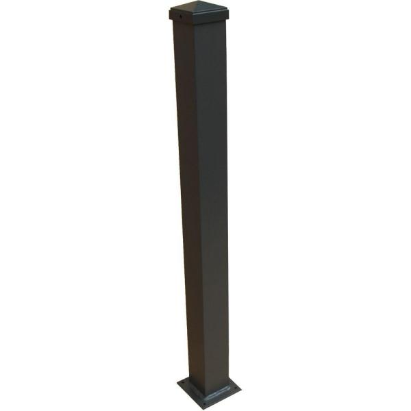 3 in. x 3 in. x 44 in. Bronze Aluminum Post with Welded Base