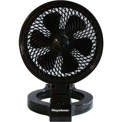 7 in. Convertible Fan in Black
