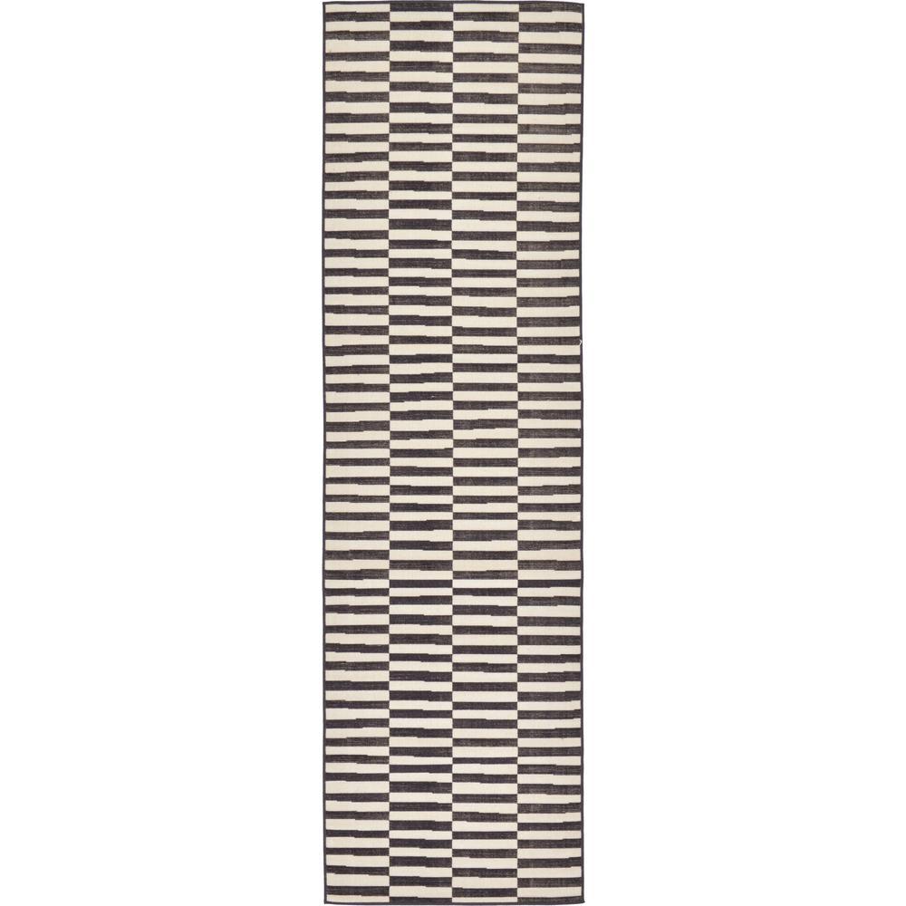 Williamsburg Striped Black 2' 9 x 9' 10 Runner Rug