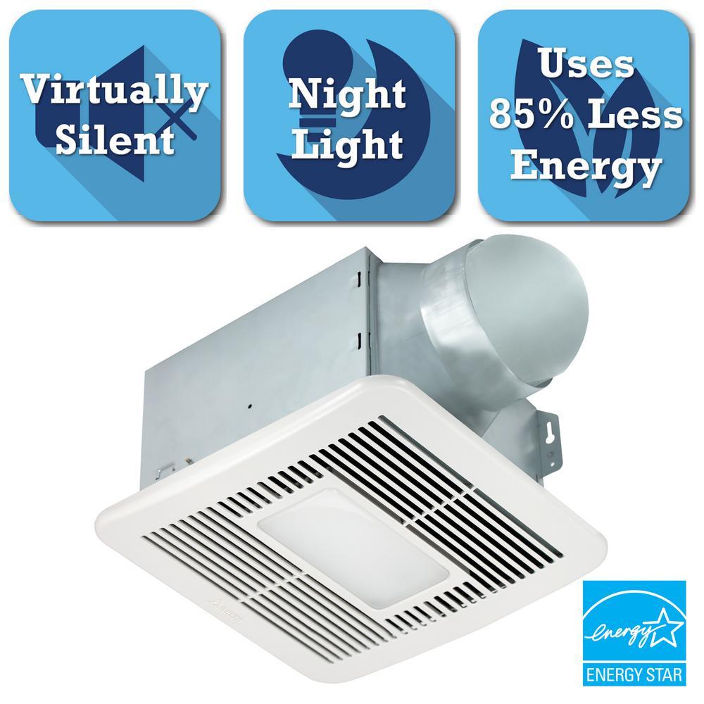 Energy Efficient Bathroom Exhaust Fans: HushTone By Cyclone 150 CFM Ceiling Bathroom Exhaust Fan