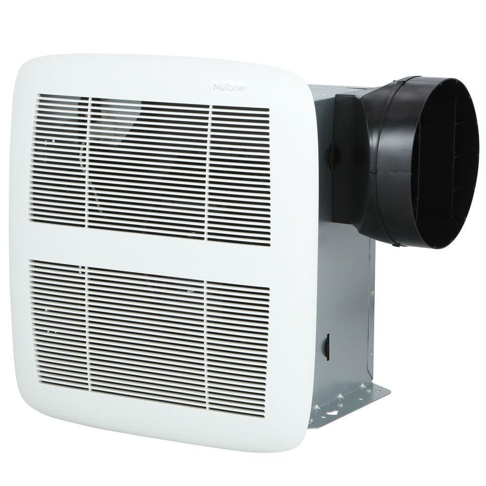 Energy Efficient Bathroom Exhaust Fans: QTX Series Very Quiet 80 CFM Ceiling Exhaust Bath Fan