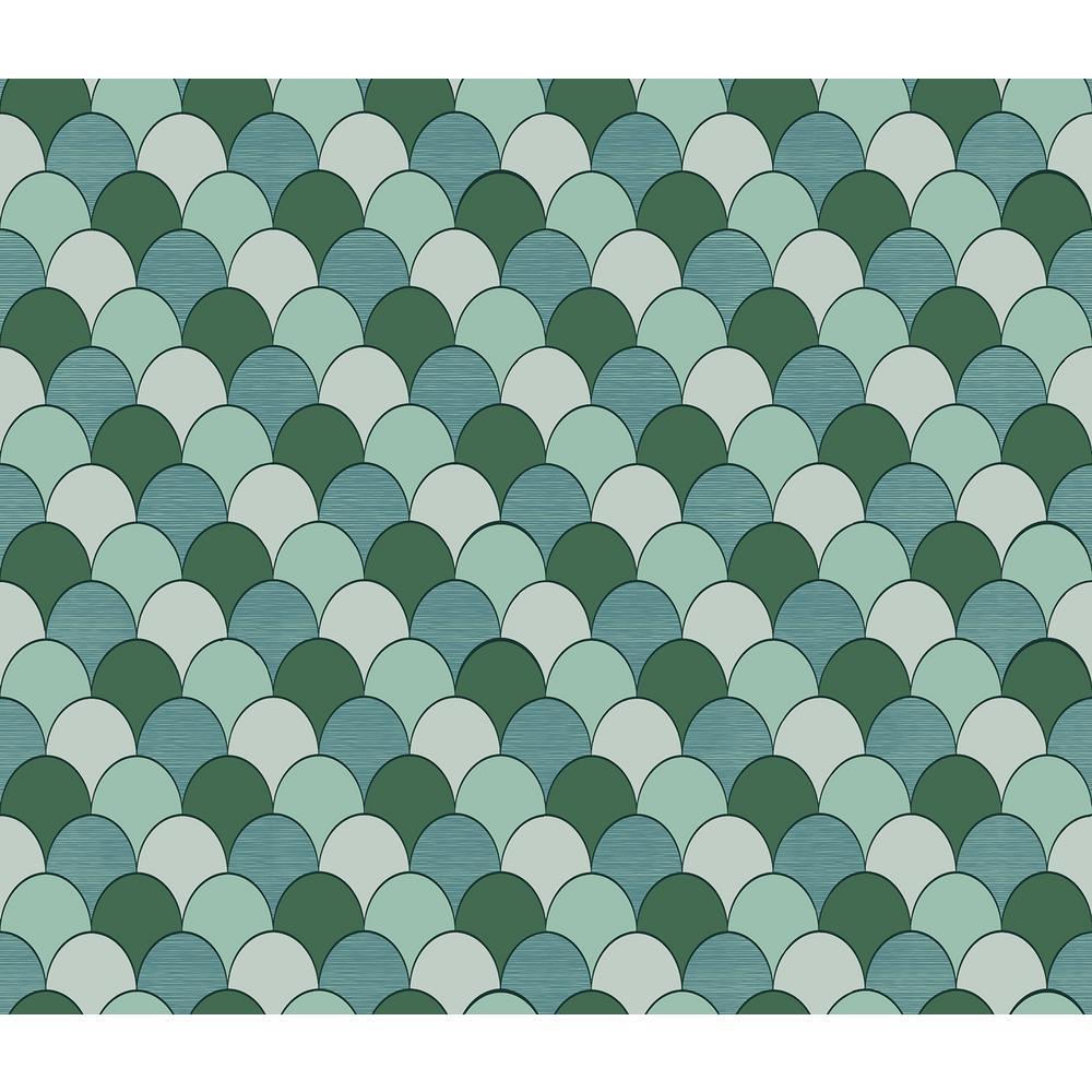 Sirpi Edwards Green Geometric Wallpaper