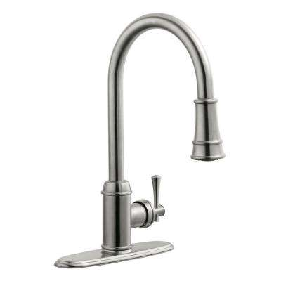 Ironwood Single-Handle Pull-Out Sprayer Kitchen Faucet in Satin Nickel