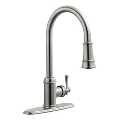 Ironwood Single-Handle Pull-Down Sprayer Kitchen Faucet in Satin Nickel