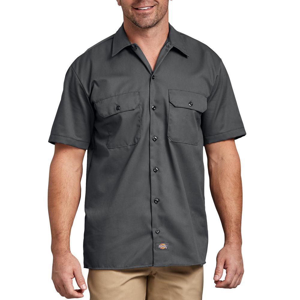 Dickies Mens Work Shirt Short Sleeved Workwear