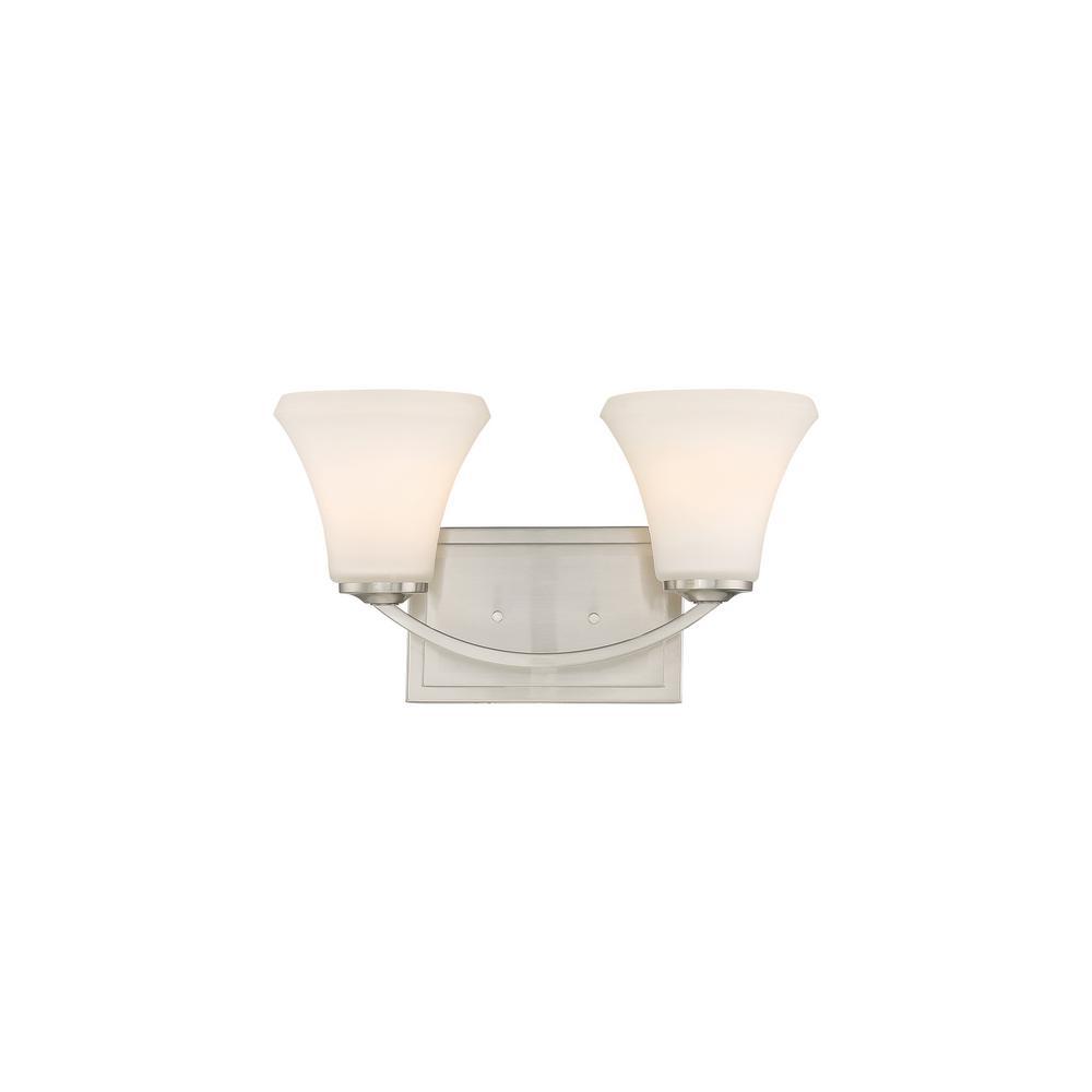 Vanity Plate Ideas For Realtors: Filament Design 4-Light Brushed Nickel Bath Light-CLI