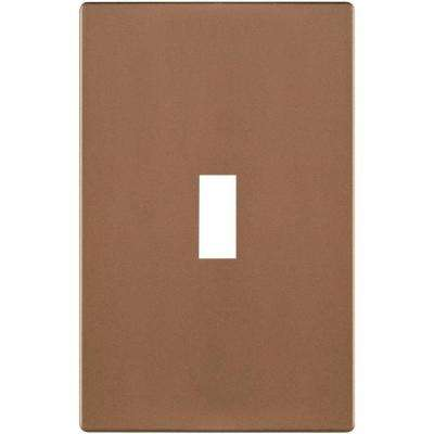 1-Gang Toggle Nylon Wall Plate - Brushed Bronze
