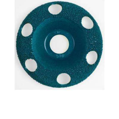 4 in. Round Fine Green Disc for Woodworking