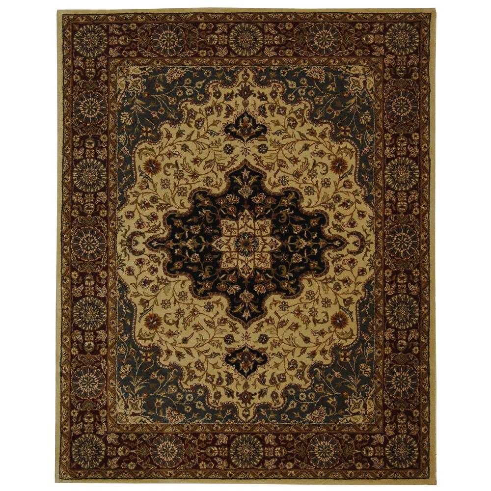 Safavieh Heritage Ivory/Red 7 ft. 6 in. x 9 ft. 6 in. Area Rug