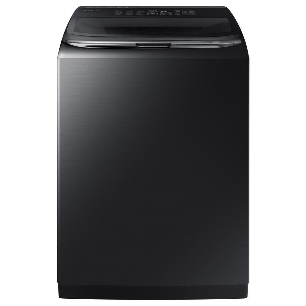 Samsung 5.2 cu. ft. High-Efficiency Top Load Washer with Activewash in Black Stainless Steel, ENERGY STAR