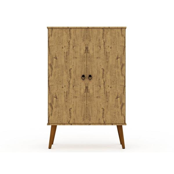 Montauk Nature Mid-Century Modern Accent Storage Cabinet with Adjustable Shelves