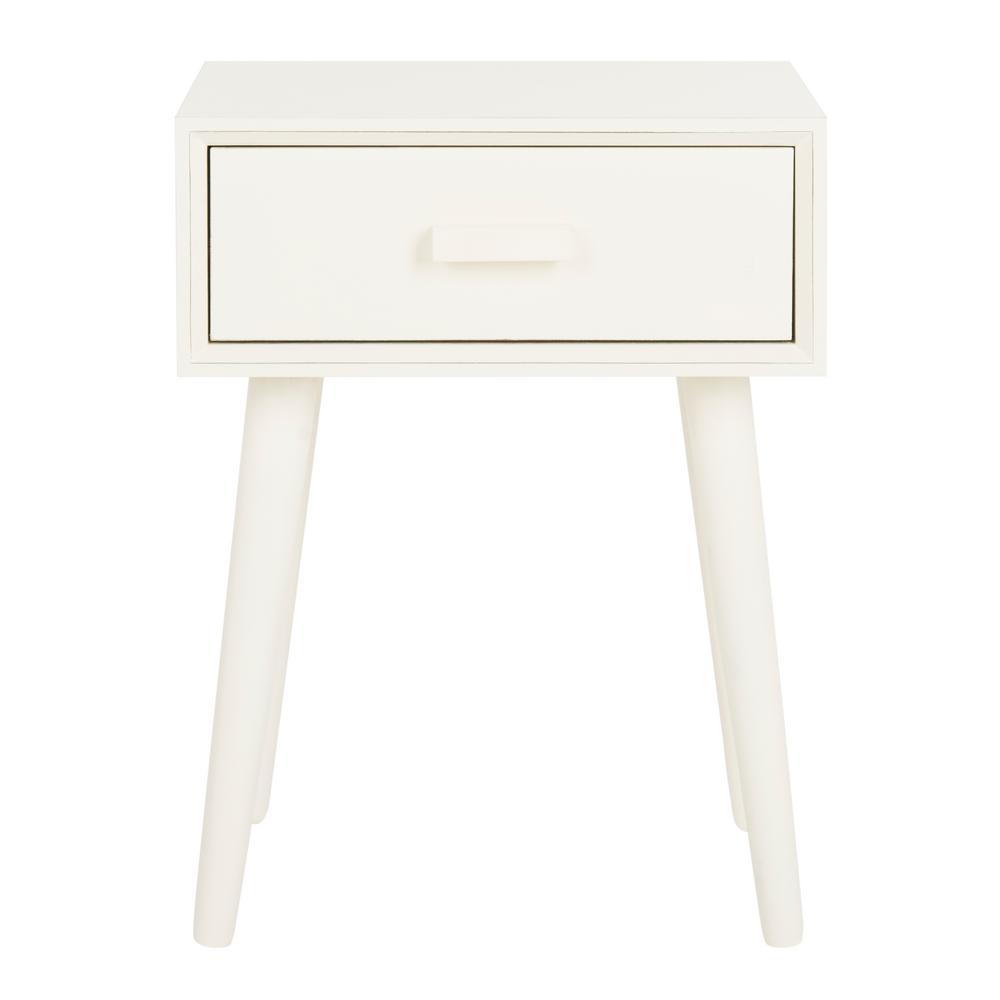 Safavieh Lyle Distressed White Storage Side Table