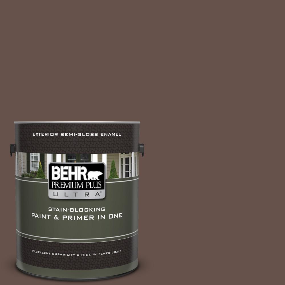 6e49dcea07df BEHR Premium Plus Ultra 1 gal.  UL140-3 Chocolate Swirl Semi-Gloss ...