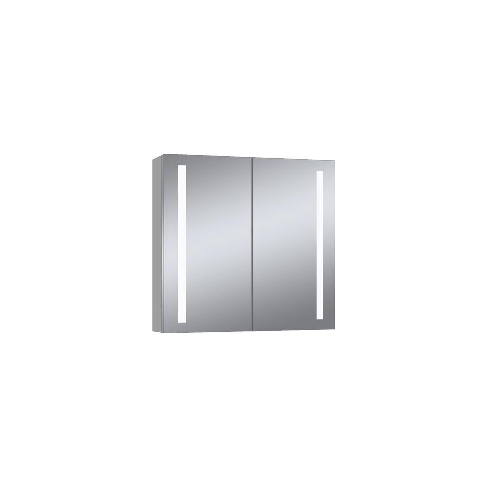 Dreamwerks 28 in. x 28 in. Wall Mounted LED Medicine Cabinet